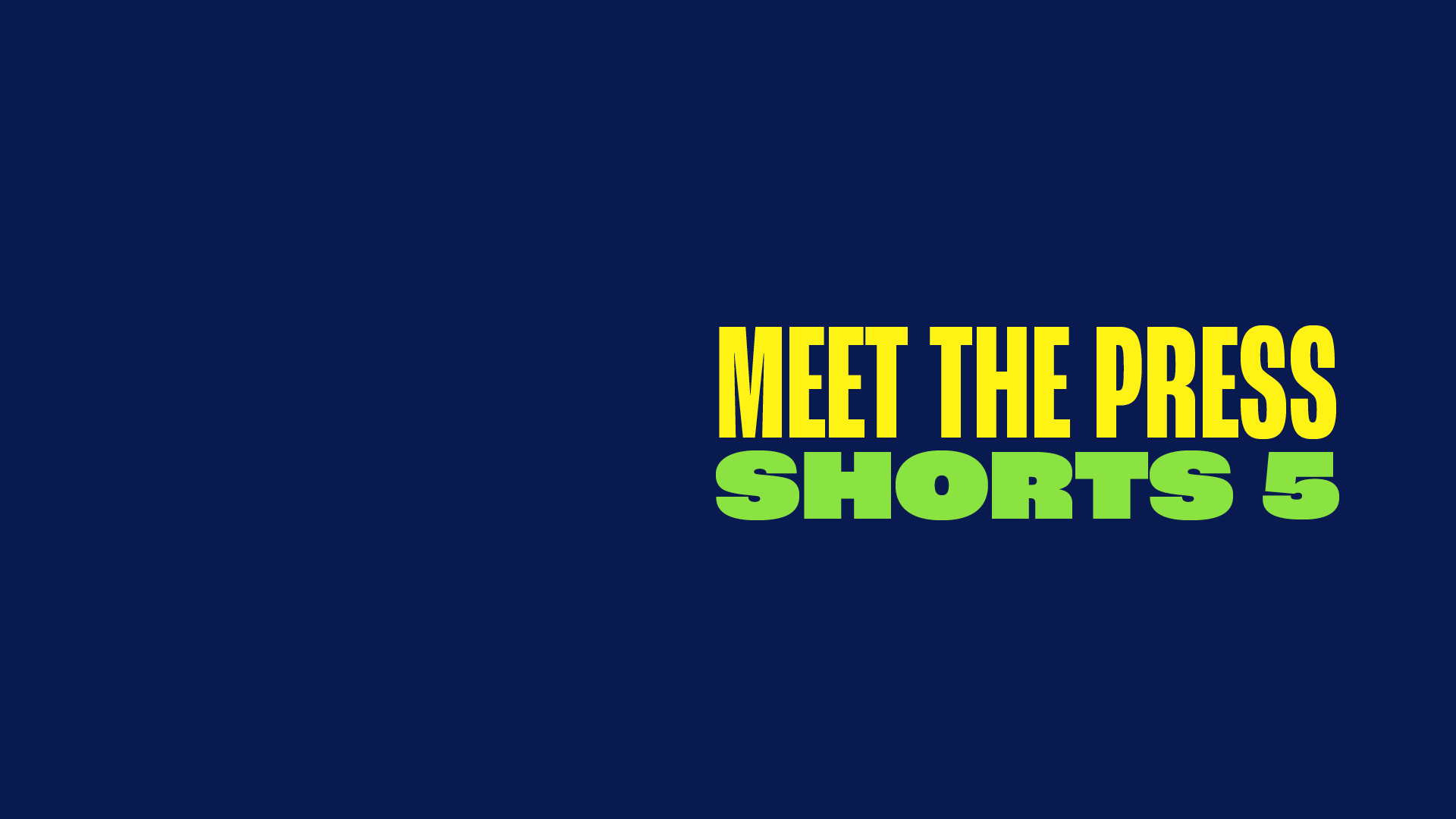 MEET THE PRESS SHORTS 5: Justice For All